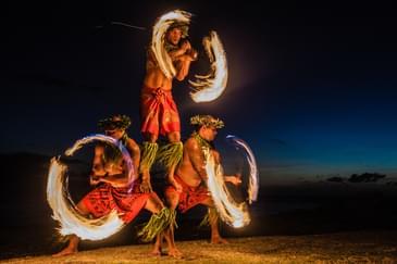 Fire Dancers in Hawaii