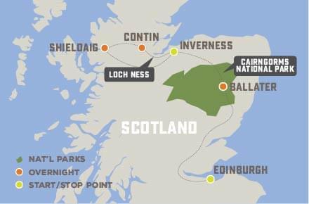 Scotland's Wild Highlands - Trip Map